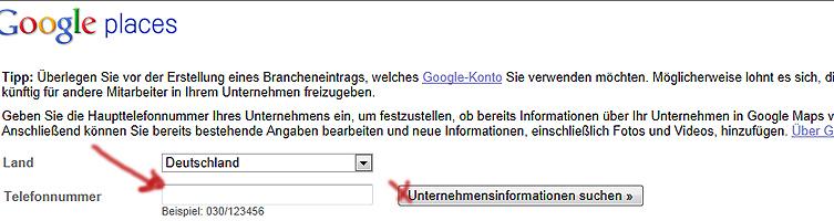 google places eintragen