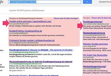 Werbung in Suchmaschinen