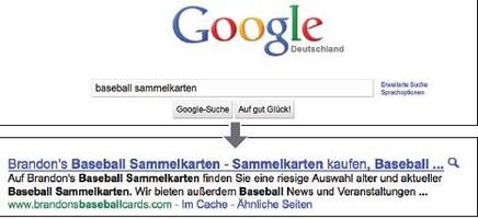 Suchmaschinenoptimierung bei Google