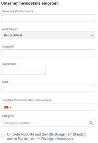 Google Places Eintrag Datenfeld