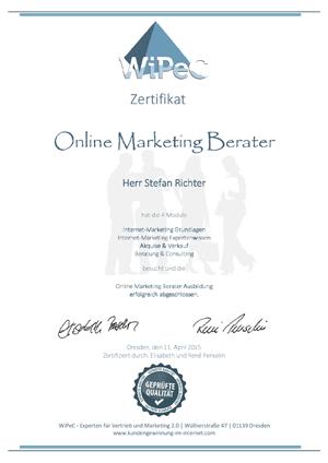 Ausbildung zum Online Marketing Berater