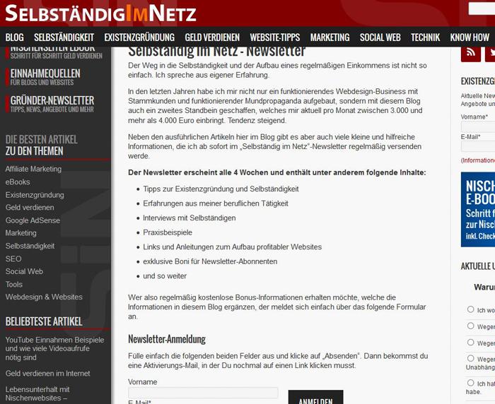 Newsletter Anmeldung optin-strategie 10 700