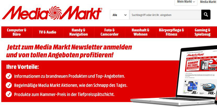 Newsletter Media Markt
