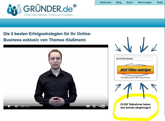 newsletter anmeldung gründer.de