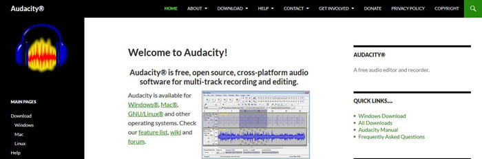 online marketing tools - Audacity