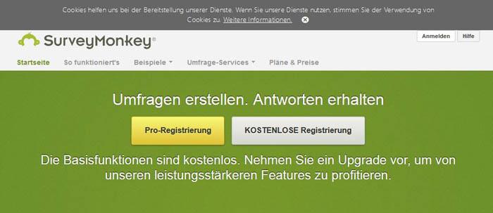 online marketing tools - Survey Monkey