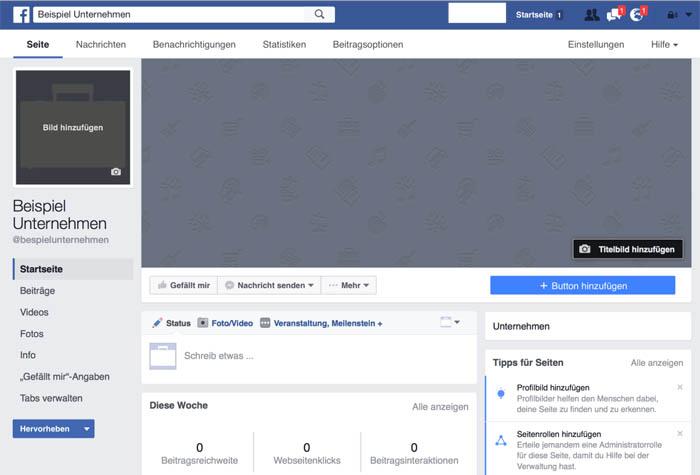 Facebook Page erstellen 12