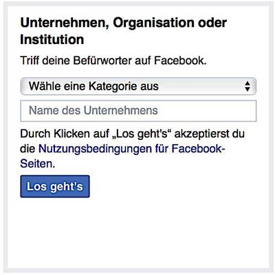 Facebook Page erstellen 3