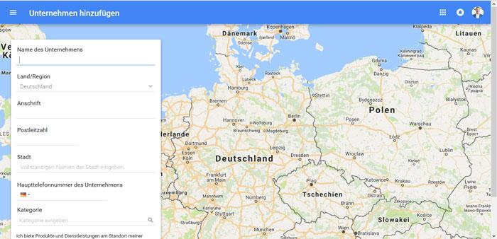 Firma in Google Maps eintragen