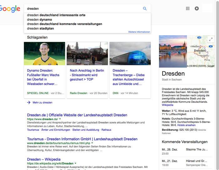 Google Platzierung 1