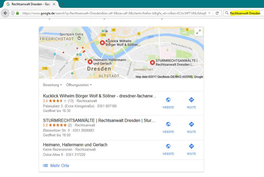 Google Platzierung 5