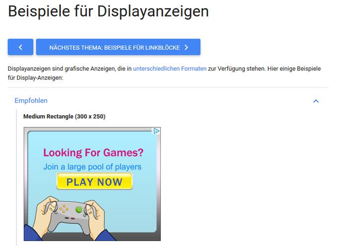 Website Werbung 2