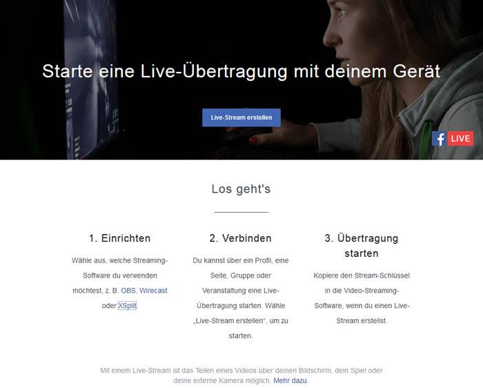 Video-Live-Streaming auf Facebook für Selbständige 1
