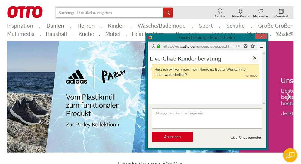 Live Chat mit Webbesuchern 2