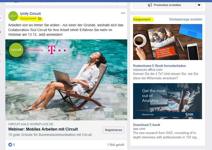 Was bringt Werbung auf Facebook 2